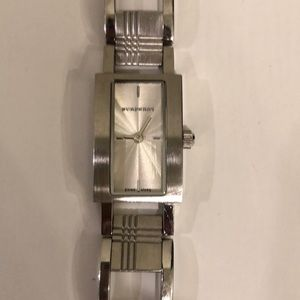 Burberry Accessories - Burberry stainless steel check pattern watch